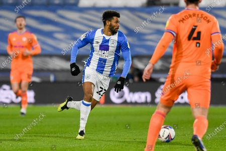 Huddersfield Town forward Fraizer Campbell (22) during the EFL Sky Bet Championship match between Huddersfield Town and Cardiff City at the John Smiths Stadium, Huddersfield