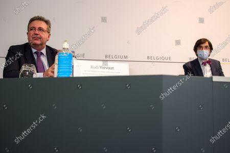 Rudi Vervoort and Elio Di Rupo