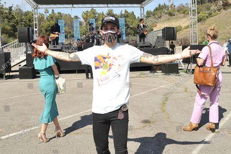 Frankie Grande poses during Rock 'N' Relief, in Los Angeles