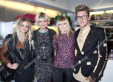 Daisy Coburn, Pixie Geldof, Amy Astley and Henry Holland