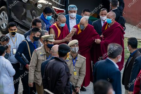 Tibetan spiritual leader the Dalai Lama arrives at the Zonal Hospital to receive a COVID-19 vaccine in Dharmsala, India, . Medical officers confirmed that the Tibetan leader got the Covishield vaccine and is not showing any adverse reaction to the vaccine