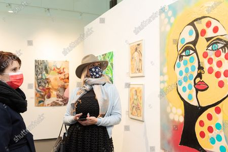 Editorial picture of 5th Annual International Women's Day Art Fair, One Art Space, New York, USA - 05 Mar 2021