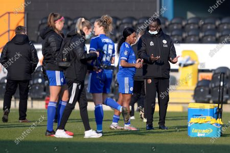 Editorial photo of London Bees v Leicester City Women, The FA Women's Championship, Football, The Hive Stadium, London, UK - 07 Mar 2021