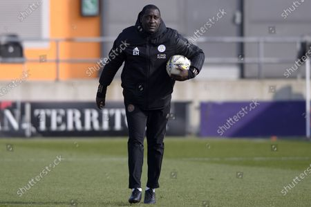 Stock Photo of Emile Heskey Leicester City Women prior to the FA WomenÕs Championship match between London Bees and Leicester City Women at The Hive Stadium in London - 7th March 2021
