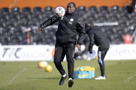 Stock Picture of Emile Heskey Leicester City Women prior to the FA Womenâ€s Championship match between London Bees and Leicester City Women at The Hive Stadium in London - 7th March 2021