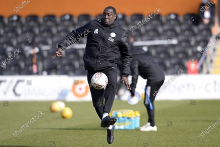 Emile Heskey Leicester City Women prior to the FA WomenÕs Championship match between London Bees and Leicester City Women at The Hive Stadium in London - 7th March 2021