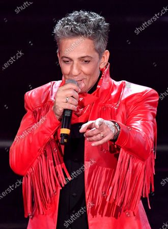 Italian showman Rosario Fiorello performs on stage at the Ariston theatre durin the 71st Sanremo Italian Song Festival, Sanremo, Italy, 06 March 2021. The festival runs from 02 to 06 March.