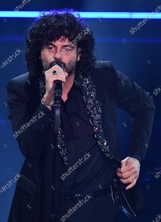 Francesco Renga performs on stage at the Ariston theatre during the 71st Sanremo Italian Song Festival, Sanremo, Italy, 06 March 2021. The festival runs from 02 to 06 March.