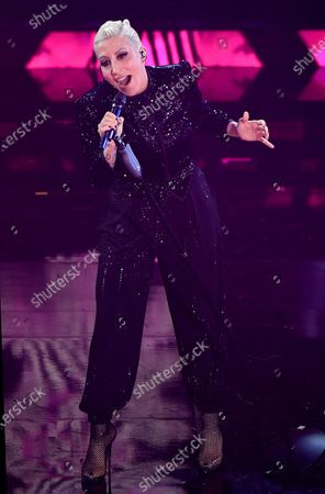 Malika Ayane performs on stage at the Ariston theatre during the 71st Sanremo Italian Song Festival, Sanremo, Italy, 06 March 2021. The festival runs from 02 to 06 March.