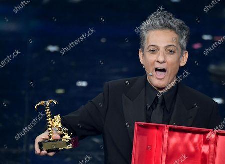 Italian showman Rosario Fiorello receives the ''Citta' di Sanremo' award on stage at the Ariston theatre during the 71st Sanremo Italian Song Festival, Sanremo, Italy, 06 March 2021. The festival runs from 02 to 06 March.