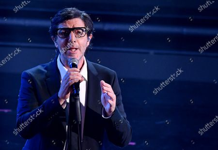 Stock Photo of Max Gazze' performs on stage at the Ariston theatre during the 71st Sanremo Italian Song Festival, Sanremo, Italy, 06 March 2021. The festival runs from 02 to 06 March.