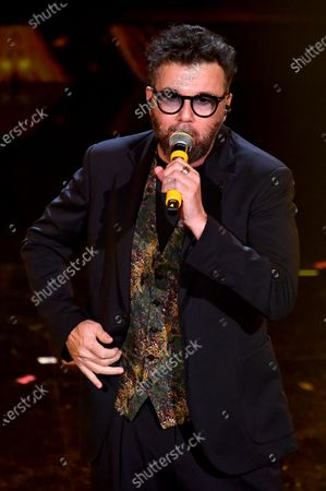 Stock Image of Paolo Vallesi performs on stage at the Ariston theatre during the 71st Sanremo Italian Song Festival, Sanremo, Italy, 06 March 2021. The festival runs from 02 to 06 March.