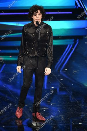 Italian singer Ermal Meta at the Ariston theater during the 71st Sanremo Italian Song Festival, in Sanremo, Italy, 05 March 2021.