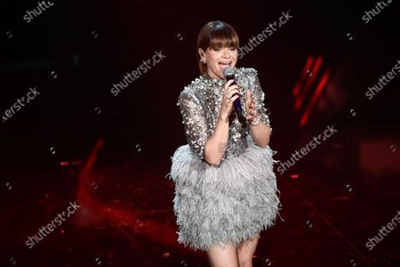 Italian singer Alessandra Amoroso at the Ariston theater during the 71st Sanremo Italian Song Festival, in Sanremo, Italy, 05 March 2021.