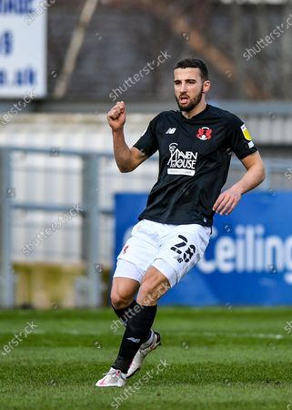 Leyton Orient Nick Freeman (28) full length   during the EFL Sky Bet League 2 match between Exeter City and Leyton Orient at St James' Park, Exeter