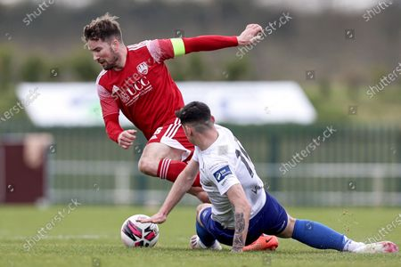 Stock Image of Waterford vs Cork City. Cork City's Gearoid Morrissey and Cian Kavanagh of Waterford