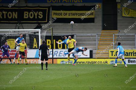 Michael Bostwick of Burton Albion (5) during the EFL Sky Bet League 1 match between Burton Albion and Peterborough United at the Pirelli Stadium, Burton upon Trent
