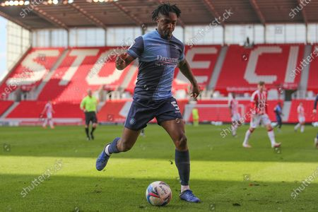 Wycombe Wanderers defender Anthony Stewart (5) during the EFL Sky Bet Championship match between Stoke City and Wycombe Wanderers at the Bet365 Stadium, Stoke-on-Trent