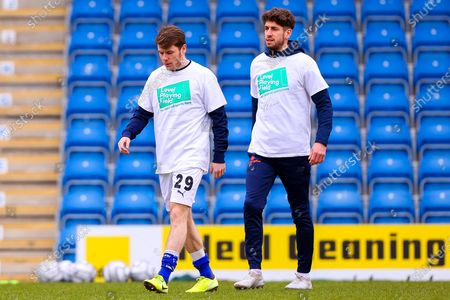 Alex Whittle and George Carline of Chesterfield wear t-shirts with Level Playing Field branding