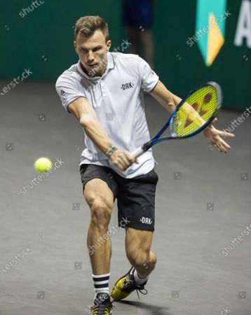 Marton Fucsovics Hungary during the semi-final against Borna Coric of Croatia on the sixth day of the ABN AMRO World Tennis Tournament in Rotterdam, Netherlands, 06 March 2021.
