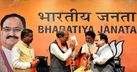 Editorial image of Former TMC MP Dinesh Trivedi Joins BJP, New Delhi, Delhi, India - 06 Mar 2021