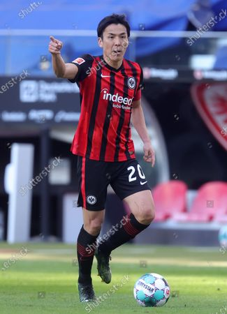 Makoto Hasebe of Eintracht Frankfurt in action during the German Bundesliga soccer match between Eintracht Frankfurt and VfB Stuttgart in Frankfurt am Main, Germany, 06 March 2021.