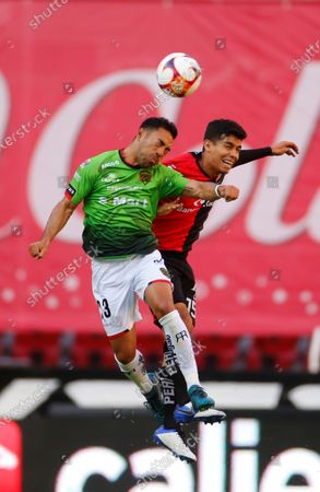 Stock Image of Diego Barbosa (L) of Atlas in action against Marco Fabian (R) of Juarez during the Liga MX Clausura soccer match between Atlas and Juarez at Jalisco Stadium in Guadalajara, Mexico, 06 March 2021.