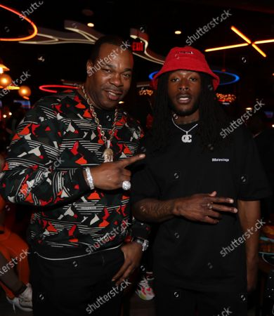 Busta Ryhmes and Alvin Kamara