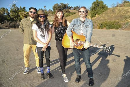 Silversun Pickups pose for a photo during Rock 'N' Relief, in Los Angeles