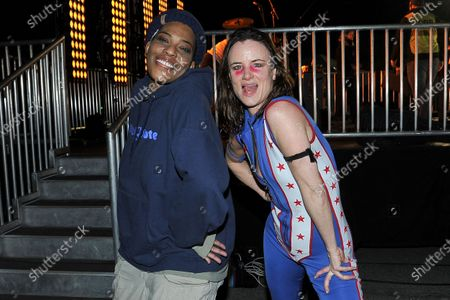 Macy Gray, left, and Juliette Lewis pose for a photo during Rock 'N' Relief, in Los Angeles