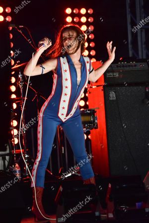 Juliette Lewis performs with her band Juliette and the Licks during Rock 'N' Relief, in Los Angeles