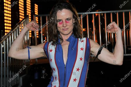 Juliette Lewis poses for a photo during Rock 'N' Relief, in Los Angeles