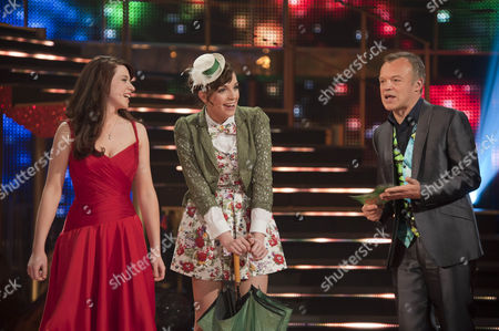 Danielle Hope and Jessica Robinson with Graham Norton.