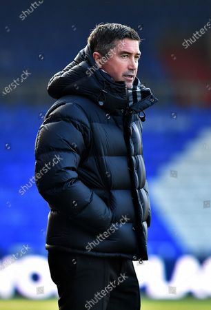 Stock action picture of Oldham Athletic's Harry Kewell (Head Coach) during the Sky Bet League 2 match between Oldham Athletic and Southend United at Boundary Park, Oldham on Saturday 6th March 2021.
