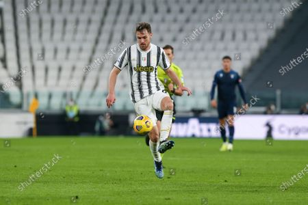 Aaron Ramsey of Juventus FC  during the Serie A football match between Juventus FC and SS Lazio at Allianz Stadium on March 06, 2021 in Turin, Italy.