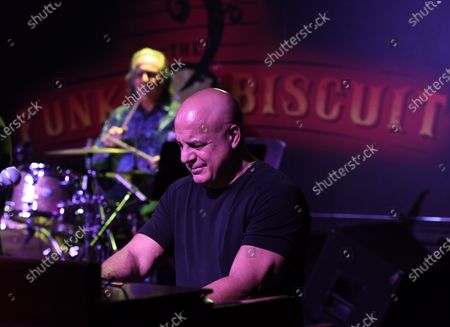 Al Pollock performs with Max Weinberg at The Funky Biscuit, Boca Raton, Florida, USA - 06 Mar 2021