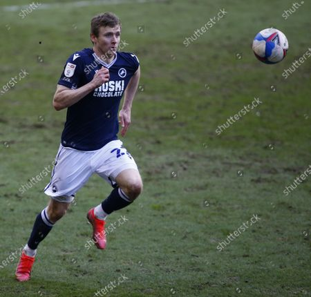 LONDON, United Kingdom, MARCH 06:Jon Dadi Bodvarsson of Millwall  during The Sky Bet Championship between Millwall and Blackburn Rovers at The Den Stadium, London on 06th March 2021