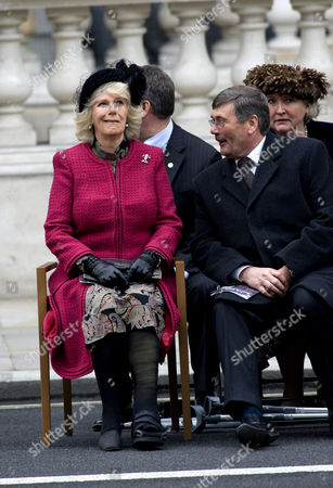 Camilla Duchess of Cornwall and the Secretary for Defence, Bob Ainsworth