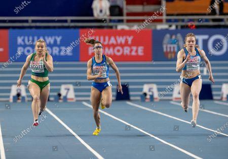 Ireland's Molly Scott competing in the Women's 60m heats