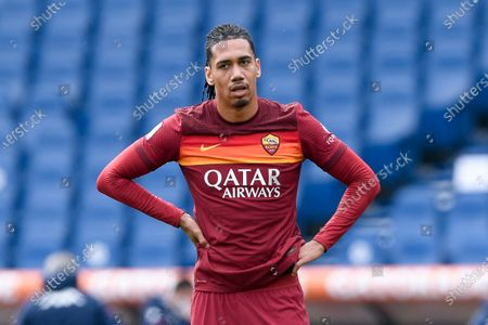 Chris Smalling of AS Roma looks dejected during the Serie A match between AS Roma and Genoa CFC at Stadio Olimpico, Rome, Italy on 7 March 2021.