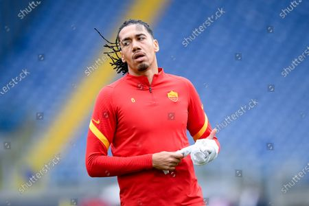 Chris Smalling of AS Roma during the Serie A match between AS Roma and Genoa CFC at Stadio Olimpico, Rome, Italy on 7 March 2021.