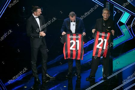 Zlatan Ibrahimovic with Amadeus and Fiorello