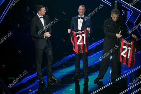 Stock Photo of Zlatan Ibrahimovic with Amadeus and Fiorello