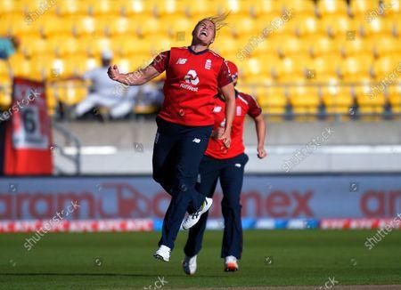 Editorial picture of NZ White Ferns v England, International Women's T20 Cricket, Wellington, New Zealand - 07 Mar 2021
