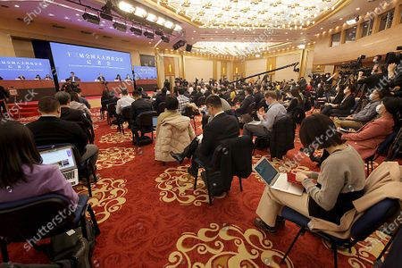 Editorial image of Wang Yi News Conference in Beijing, China - 07 Mar 2021