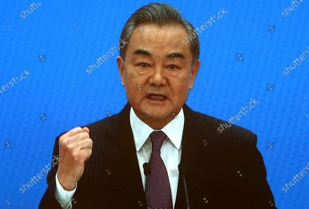 Editorial picture of Wang Yi News Conference in Beijing, China - 07 Mar 2021