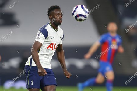 Tottenham's Davinson Sanchez in action during the English Premier League soccer match between Tottenham Hotspur and Crystal Palace at the Tottenham Hotspur Stadium in London