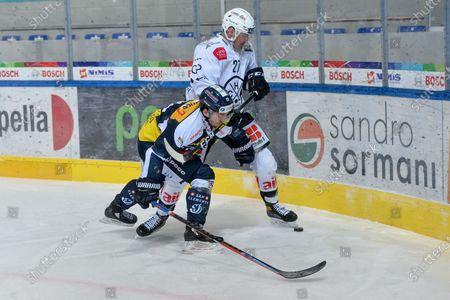 National League: HC Ambri-Piotta vs HC Lugano, #27 Alessandro Chiesa (Lugano) against #13 Marco Mueller (Ambri)