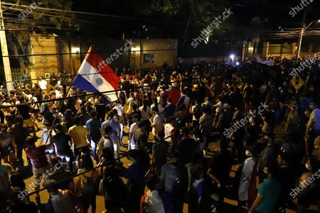 Editorial photo of Demonstrators call for President Benitez's resignation, in Asuncion, Paraguay - 08 Mar 2021