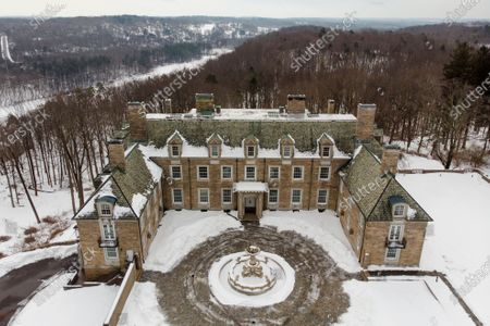 Stock Image of The Seven Springs, a property owned by former U.S. President Donald Trump, is covered in snow, in Mount Kisco, N.Y. The estate, a 213-acre swath of nature surrounding a Georgian-style mansion, is a subject of two state investigations in New York: a criminal probe by Manhattan District Attorney Cyrus Vance Jr. and a civil inquiry by state Attorney General Letitia James. Both investigations focus on whether Trump manipulated the property's value to reap greater tax benefits from an environmental conservation arrangement he made while running for president in 2016